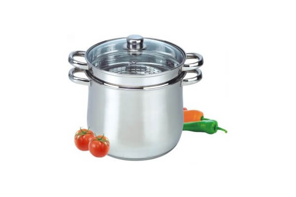 SC-0341 Stainless Steel Stockpot with Steamer Insert