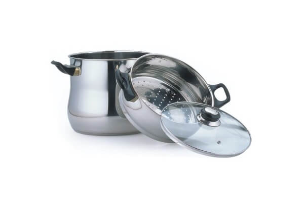 SC-0371 Stainless Steel Stockpot with Steamer Insert