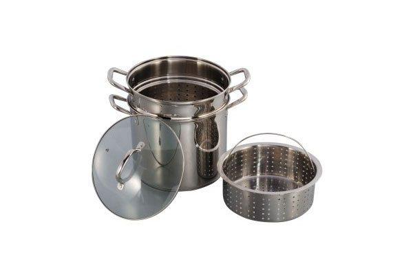 SC-0447 Stainless Steel 4-Piece Pasta Cooker Steamer
