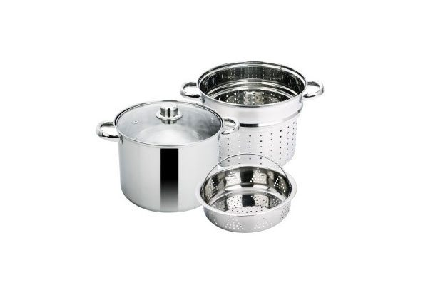 SC-0492 Stainless Steel 4-Piece Pasta Cooker Steamer