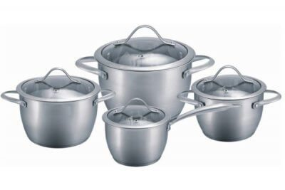 SC-0884 8 PCS Conical Shape Stainless Steel Cookware Set
