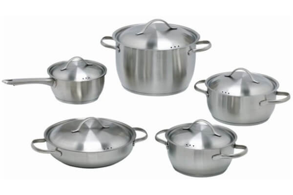 SC-1031 10 PCS Conical Shape Stainless Steel Cookware Set