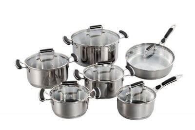 SC-1293 12 PCS Stainless Steel Cookware Set