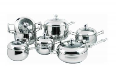 SC-1386 13 PCS Apple Shape Stainless Steel Cookware Set