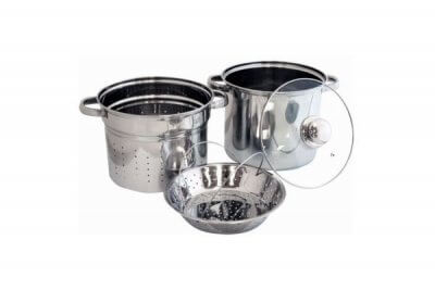 SC-0444 Stainless Steel 4-Piece Pasta Cooker Steamer