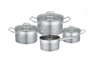 SC-0756 7 PCS Straight Shape Stainless Steel Cookware Set