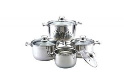 SC-0864 8 PCS Stainless Steel Cookware Set