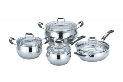 SC-0893 8 PCS Apple Shape Stainless Steel Cookware Set
