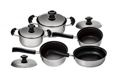 SC-0920 9 PCS Stainless Steel Cookware Set