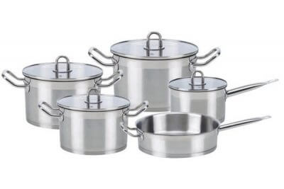 SC-0953 9 PCS Straight Shape Stainless Steel Cookware Set