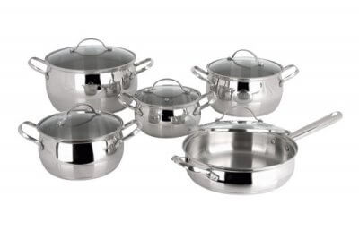 SC-1010 10 PCS Apple Shape Stainless Steel Cookware Set