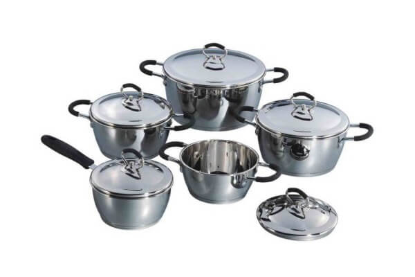 SC-1094 10 PCS Conical Shape Stainless Steel Cookware Set