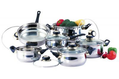 SC-1201 12 PCS Stainless Steel Cookware Set