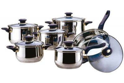 SC-1211 12 PCS Stainless Steel Cookware Set