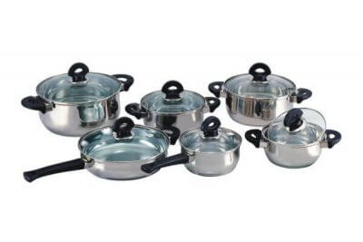 SC-1221 12 PCS Stainless Steel Cookware Set