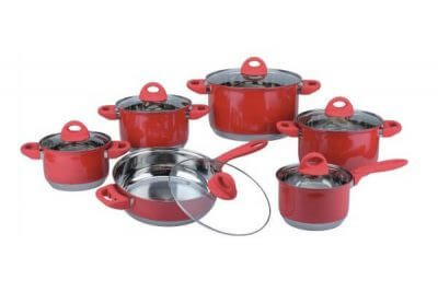 SC-1223C 12 PCS Stainless Steel Cookware Set