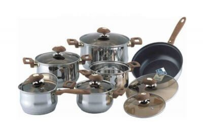 SC-1231 12 PCS Stainless Steel Cookware Set