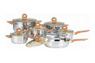 SC-1232 12 PCS Stainless Steel Cookware Set