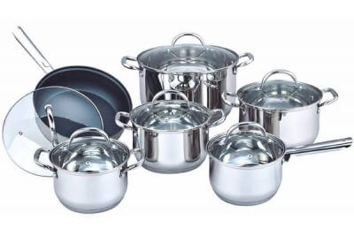 SC-1262 12 PCS Stainless Steel Cookware Set