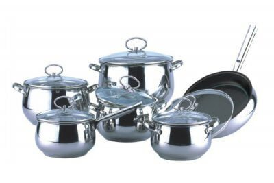SC-1275 12 PCS Apple Shape Stainless Steel Cookware Set