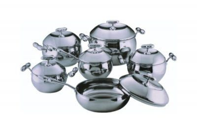 SC-1277 12 PCS Apple Shape Stainless Steel Cookware Set
