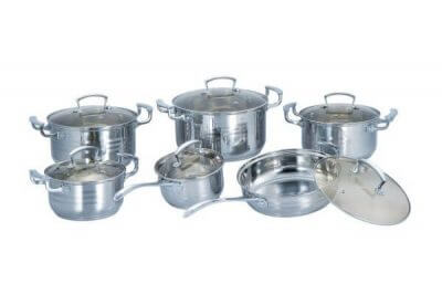 SC-1292 12 PCS Stainless Steel Cookware Set