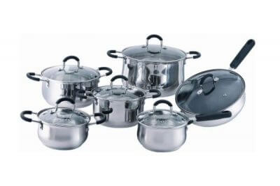 SC-1297 12 PCS Stainless Steel Cookware Set