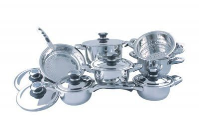 SC-1301 13 PCS Wide Edge Stainless Steel Cookware Sets
