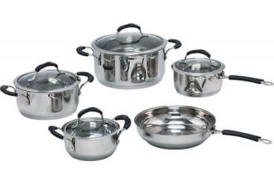SC-0930 9 PCS Belly Shape Stainless Steel Cookware Set