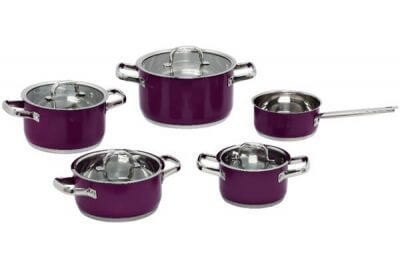 SC-0943C 9 PCS Belly Shape Stainless Steel Cookware Set