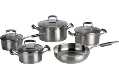 SC-0993 9 PCS Straight Shape Stainless Steel Cookware Set