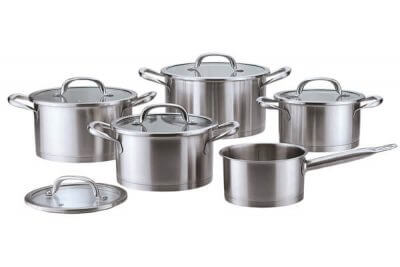 SC-1046 10 PCS Straight Shape Stainless Steel Cookware Set