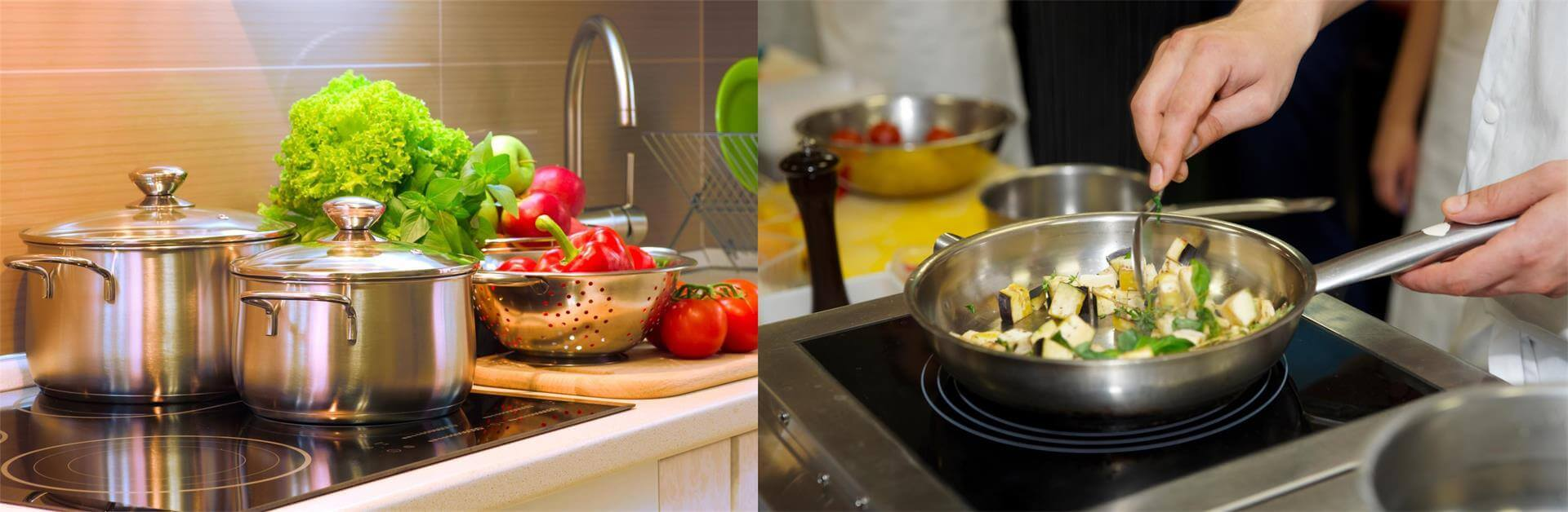 stainless steel cookware for kitchen cooking